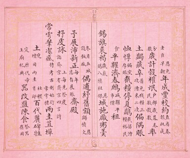 View 21. Thumbnail of Lot 3114. Peng Yuanrui 1731 - 1803 彭元瑞 1731-1803 | Poems for the Emperor Qianlong's Eightieth Birthday Celebration 《萬壽大慶八庚全韻詩》冊.