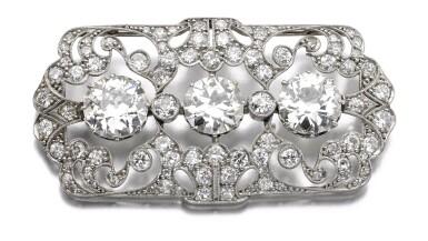 View 1. Thumbnail of Lot 684. Diamond brooch | 鑽石別針.
