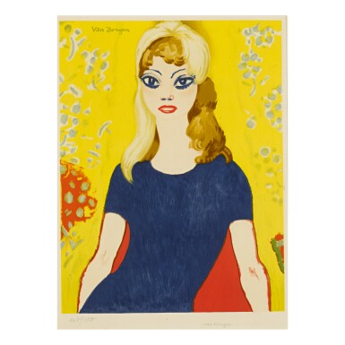 AFTER KEES VAN DONGEN | BRIGITTE BARDOT (JUFFERMANS 42B)