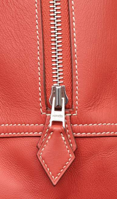 View 7. Thumbnail of Lot 319. Rose Pivoine Plume 32cm in Swift Leather with Palladium Hardware, 2015.