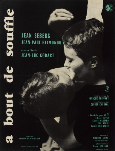 A BOUT DE SOUFFLE/BREATHLESS (1959) POSTER, FRENCH