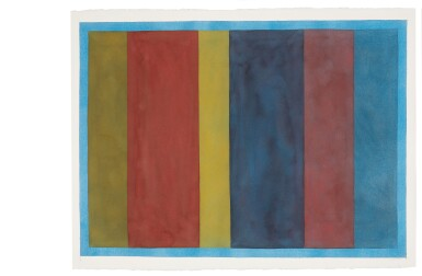 View 5. Thumbnail of Lot 25. Uneven Vertical Bands of Color VII II; Uneven Vertical Bands of Color VI III; Uneven Vertical Bands of Color X IV; Uneven Vertical Bands of Color II [four works].