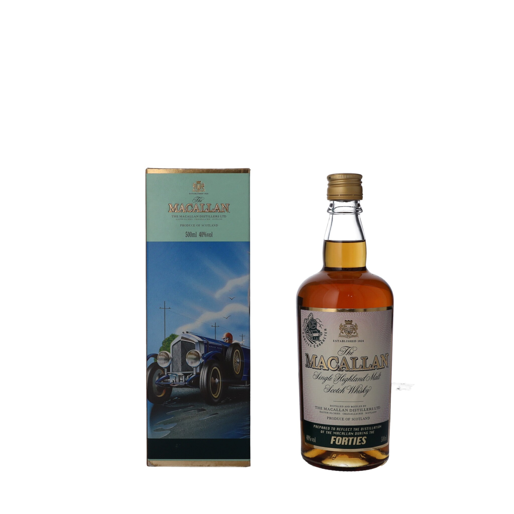 """View full screen - View 1 of Lot 54. The Macallan Travel Decades Series """"Forties"""" 40.0 abv NV (1 BT50)."""