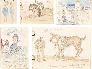 JACK BUTLER YEATS, R.H.A.   FIVE SKETCHBOOKS