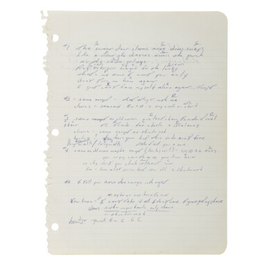 """View 1. Thumbnail of Lot 238. SPRINGSTEEN, BRUCE 