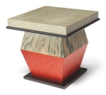 "ETTORE SOTTSASS | ""ROSSO GRIGIO E NERO"" OCCASIONAL TABLE FROM THE ""BHARATA"" SERIES"