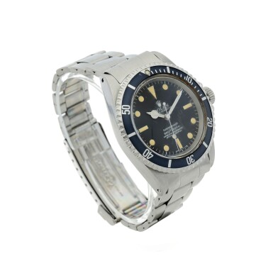View 3. Thumbnail of Lot 102. ROLEX   REFERENCE 5512 SUBMARINER A STAINLESS STEEL AUTOMATIC WRISTWATCH WITH BRACELET, CIRCA 1965.