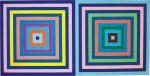 Frank Stella 弗蘭克・斯特拉  | Untitled (Double Concentric Square) 無題(雙同心正方形)
