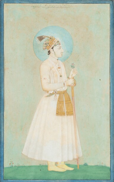 View 7. Thumbnail of Lot 71. NORTHERN INDIA AND DECCAN, 19TH CENTURY | FOUR PORTRAITS.
