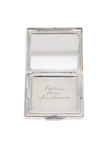 View 4. Thumbnail of Lot 322. A jewelled silver vanity case, Alfred Ernst Neighbour, London, 1936.