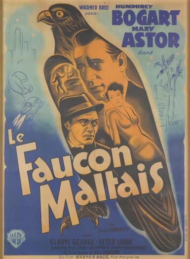 THE MALTESE FALCON / LE FAUCON MALTAIS (1941) POSTER, FRENCH