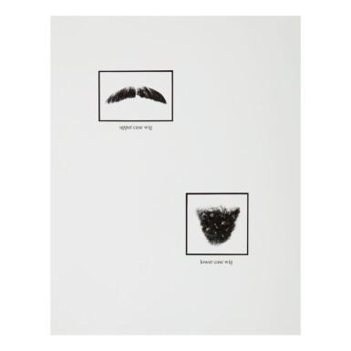 LORNA SIMPSON   UNTITLED (UPPER-CASE AND LOWER-CASE WIGS)