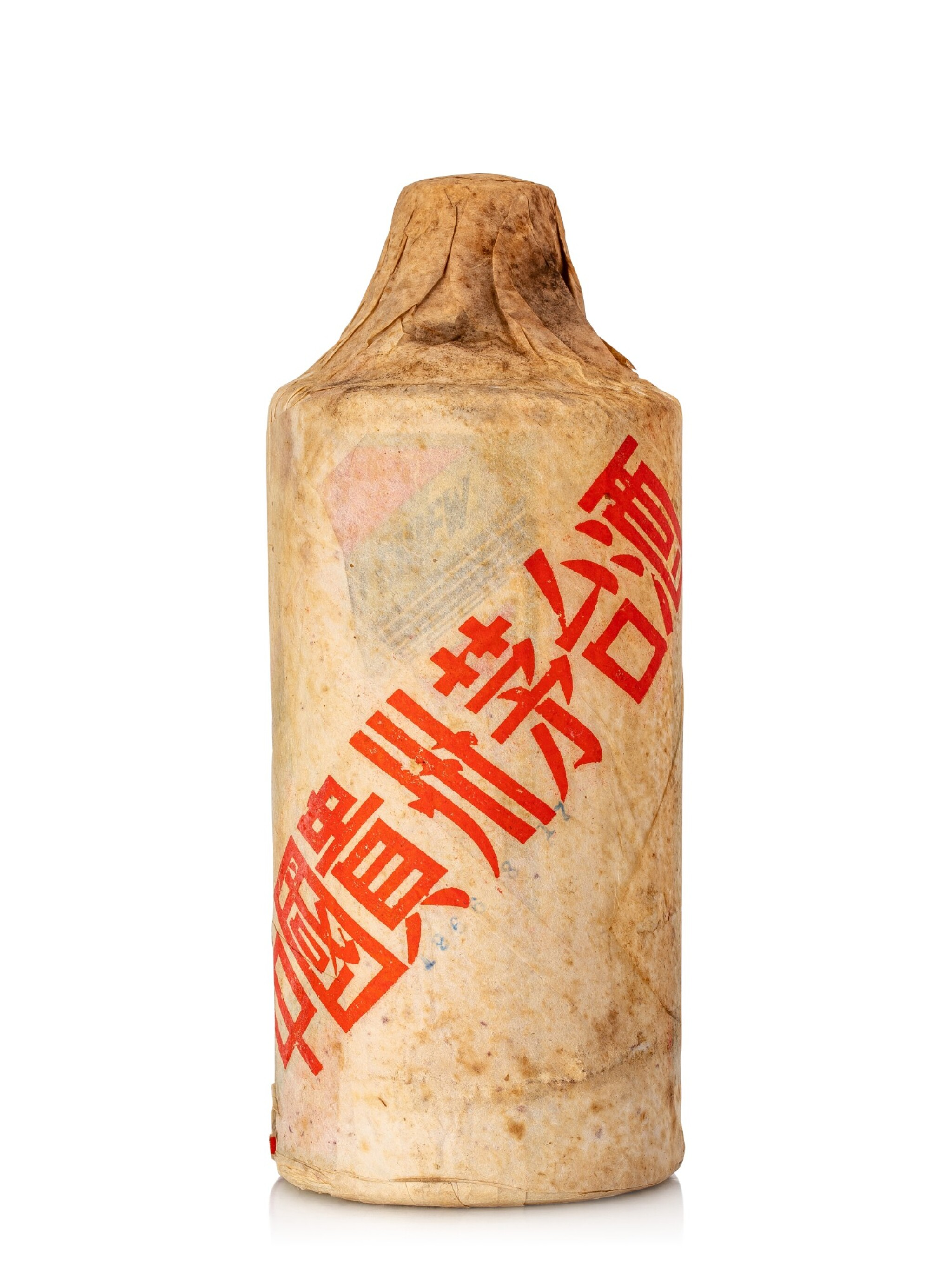 View full screen - View 1 of Lot 5566. 1966年產貴州飛天牌茅台(棉紙)Kweichow Flying Fairy Moutai 1966 (1 BT50).