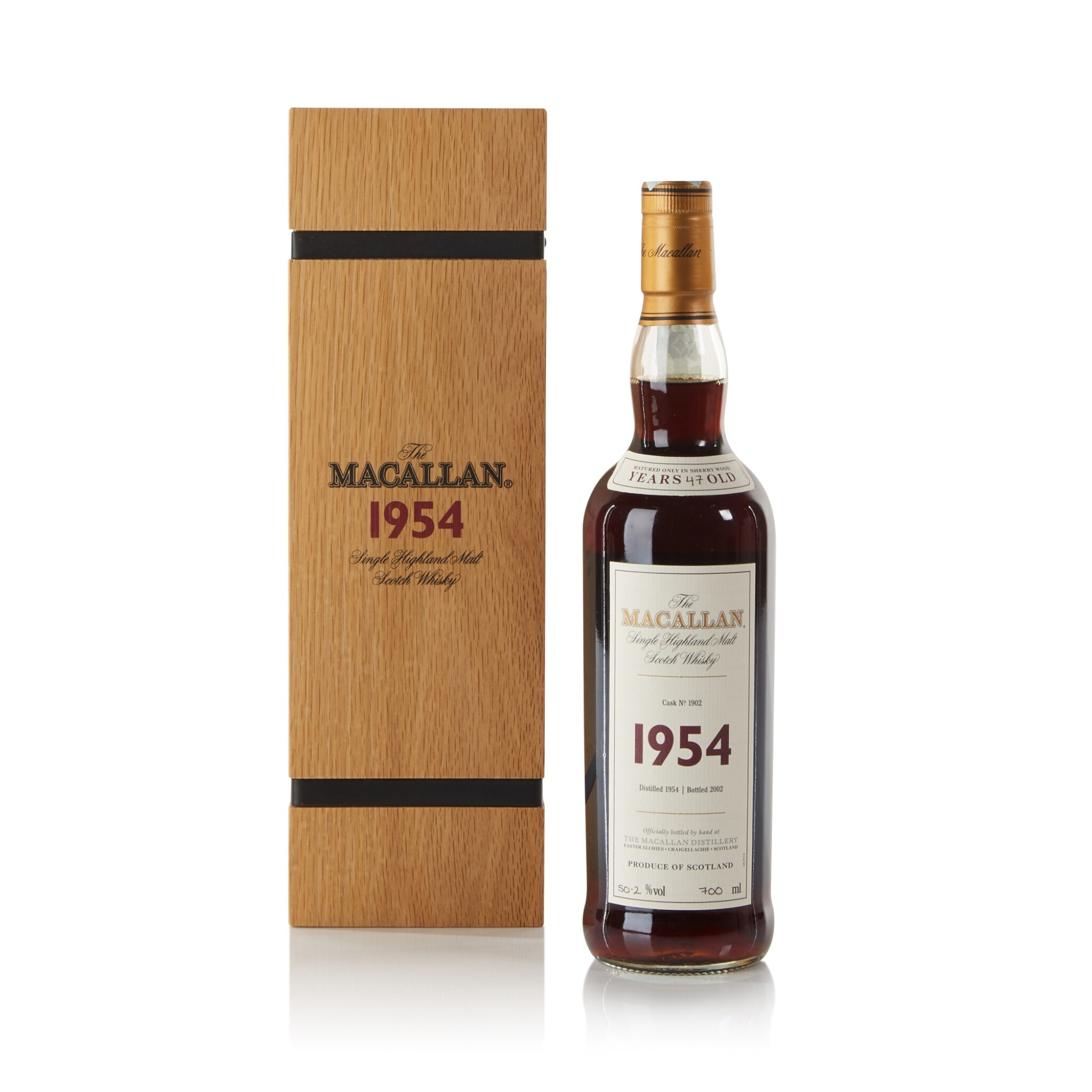 View full screen - View 1 of Lot 31. The Macallan Fine & Rare 47 Year Old 50.2 abv 1954 .