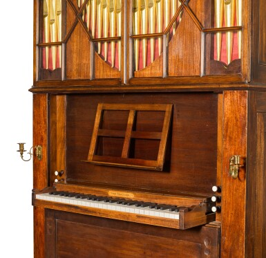 View 4. Thumbnail of Lot 167. A George III mahogany chamber organ by Hugh Russell, 1780.