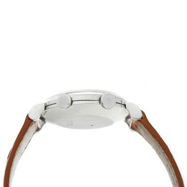 View 4. Thumbnail of Lot 240. MEMOVOX A STAINLESS STEEL ALARM WRISTWATCH, CIRCA 1960.