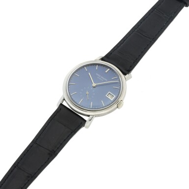 View 6. Thumbnail of Lot 23. REFERENCE 3445 A WHITE GOLD AUTOMATIC WRISTWATCH WITH DATE, MADE IN 1963.