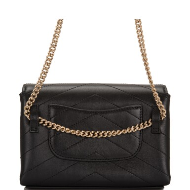 View 3. Thumbnail of Lot 95. CHANEL    COCO CHEVRON DOUBLE WRAP WAIST BAG OF BLACK CALFSKIN WITH LIGHT TONE GOLD HARDWARE.