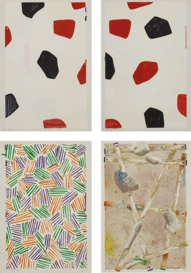 JASPER JOHNS | FOUR PANELS FROM UNTITLED 1972 (ULAE 149)