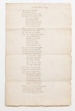 RONSARD. Ode des Estoilles au Roy. Manuscrit. [1573]; 3 pages sur un bi-feuillet in-folio. Chemise et étui.