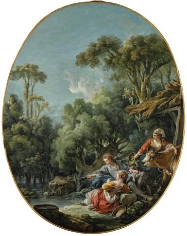 View 1. Thumbnail of Lot 43. Les villageois à la pêche   《垂釣的村民》.