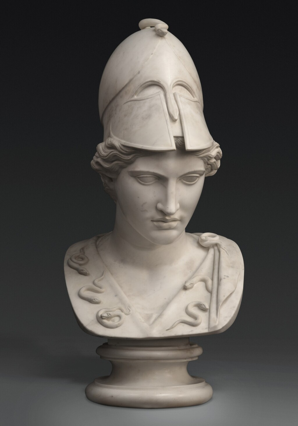 ITALIAN, 19TH CENTURY, AFTER THE ANTIQUE | MONUMENTAL BUST OF ATHENA
