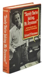 "FEYNMAN, RICHARD P. | ""SURELY YOU'RE JOKING MR. FEYNMAN"". FIRST EDITION, DOUBLE INSCRIBED, BY FEYNMAN & JOHN SCHWARZ."