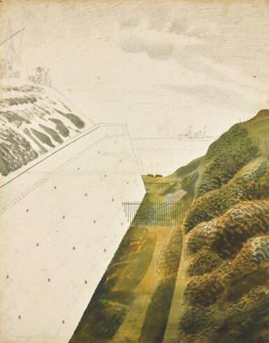 View 1. Thumbnail of Lot 734. ERIC RAVILIOUS | MARINE OBSERVATION POST.