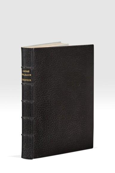View 1. Thumbnail of Lot 242. MALRAUX. L'Espoir. 1937. Éd.or 1/6 premiers exemplaires sur Chine. Parfaitement relié par Pierre-Lucien Martin..