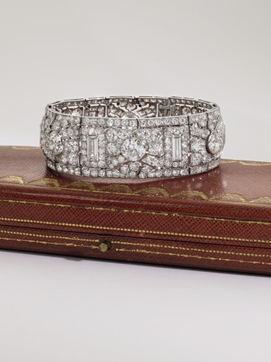 View 6. Thumbnail of Lot 349. CARTIER | IMPORTANT DIAMOND BRACELET, 'COURSE DE FEUILLAGE', 1926.