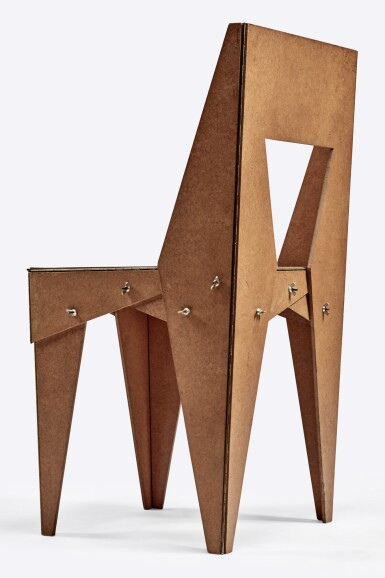 """View 3. Thumbnail of Lot 108. """"Wing-Nut"""" Chair."""