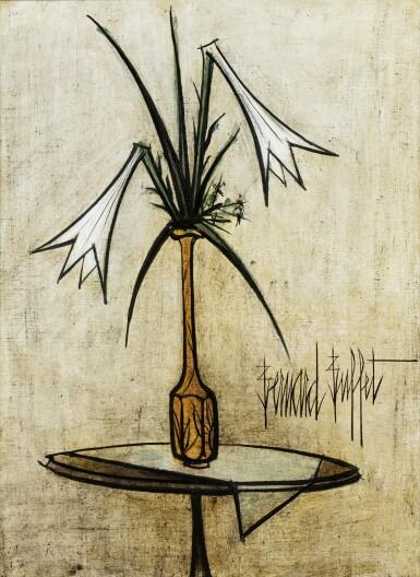 View 1. Thumbnail of Lot 201. Lys dans un vase de Gallé.