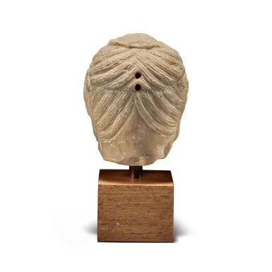 View 4. Thumbnail of Lot 109. A marble head of bodhisattva, Tang Dynasty | 唐 大理石菩薩首像.
