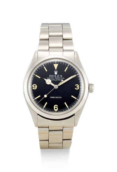 View 1. Thumbnail of Lot 8086. ROLEX   EXPLORER, REFERENCE 5500, A STAINLESS STEEL WRISTWATCH WITH BRACELET, CIRCA 1971.