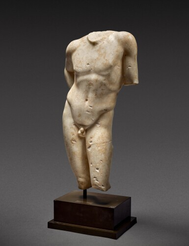 View 3. Thumbnail of Lot 27. A Roman Marble Torso of Narcissus, circa 1st Century A.D..