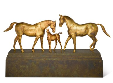 View 1. Thumbnail of Lot 20. HERBERT HASELTINE   COUNTERPOINT WITH FIRST FLIGHT AND FOAL.
