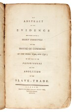 An Abstract of Evidence for the Abolition of Slave Trade