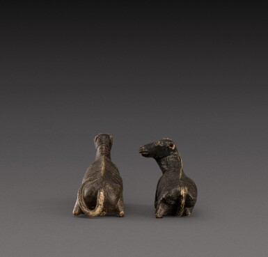 View 4. Thumbnail of Lot 157. Indo-European, possibly 17th century | Pair of Animals.
