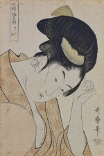 KITAGAWA UTAMARO I (1754–1806), EDO PERIOD, LATE 18TH CENTURY | OBVIOUS LOVE (ARAWARURU KOI)