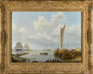 View 2. Thumbnail of Lot 82. Shipping in a Calm Estuary.