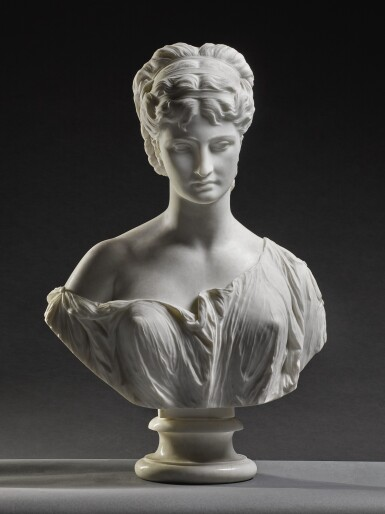 View 5. Thumbnail of Lot 7. PROSPER D' EPINAY | GRECIAN BUST.