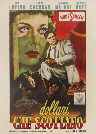 PRIVATE HELL 36 / DOLLARI CHE SCOTTANO (1954) POSTER, ITALIAN