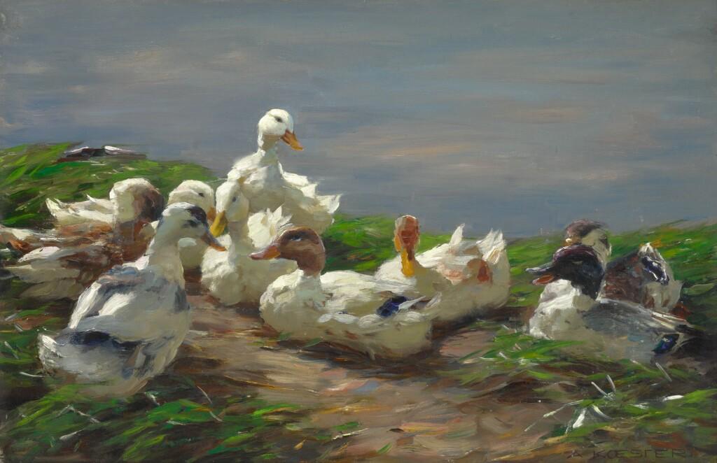 ALEXANDER KOESTER | Nine Ducks on a Pond