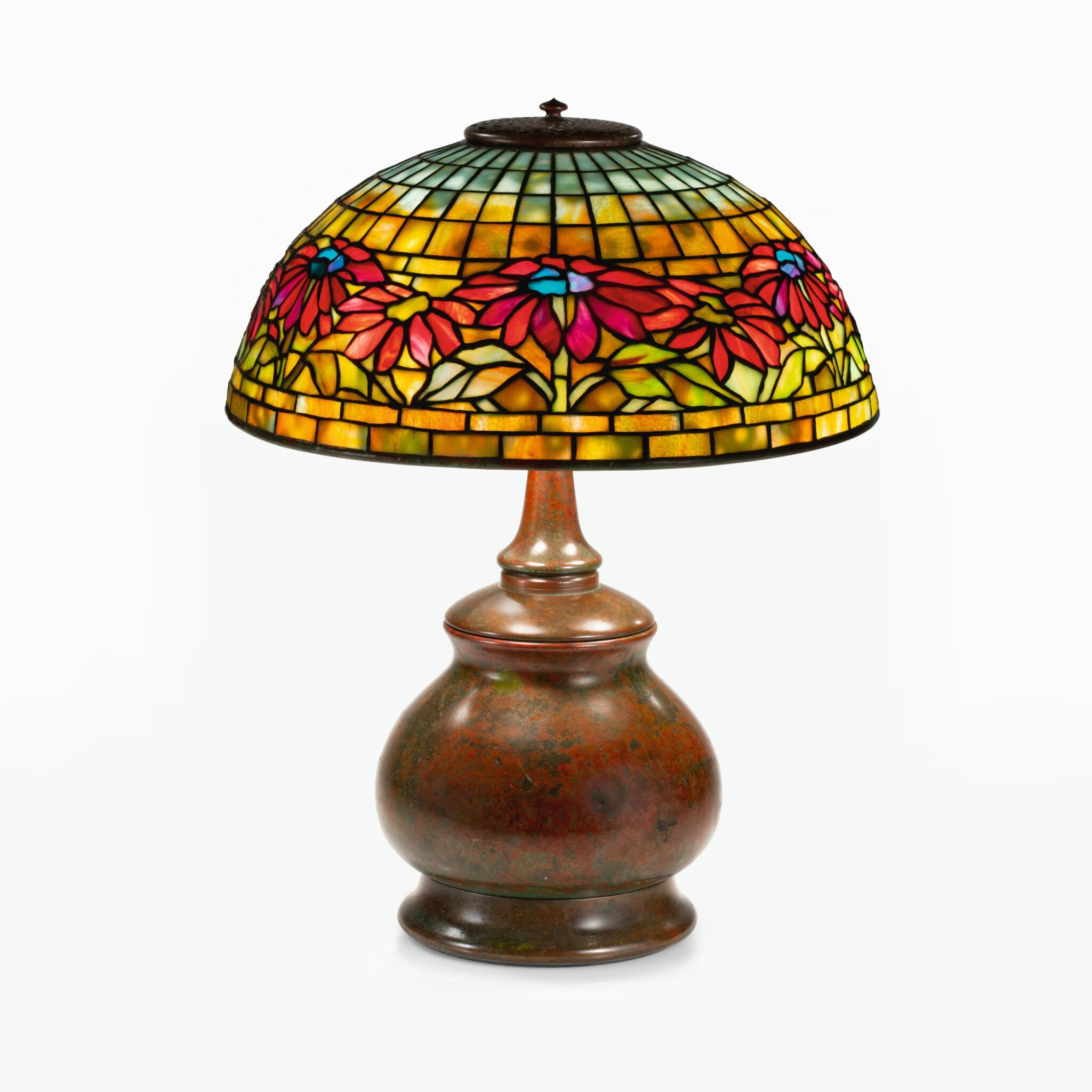 """View full screen - View 1 of Lot 11. """"Poinsettia"""" Table Lamp."""