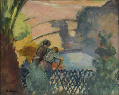 View 1. Thumbnail of Lot 59. Deux femmes au lavoir.