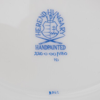 """View 7. Thumbnail of Lot 2. AN EXTENSIVE HEREND PORCELAIN """"VICTORIA"""" PATTERN COMPOSITE PART DINNER AND DESSERT SERVICE, 20TH CENTURY."""
