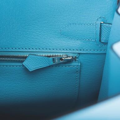 View 9. Thumbnail of Lot 63. Hermès Bleu Du Nord Birkin 30cm of Epsom Leather with Palladium Hardware.