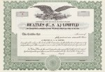 THE BEATLES | Corporate records for The Beatles (USA) Limited Corporate Records, 1964-1967