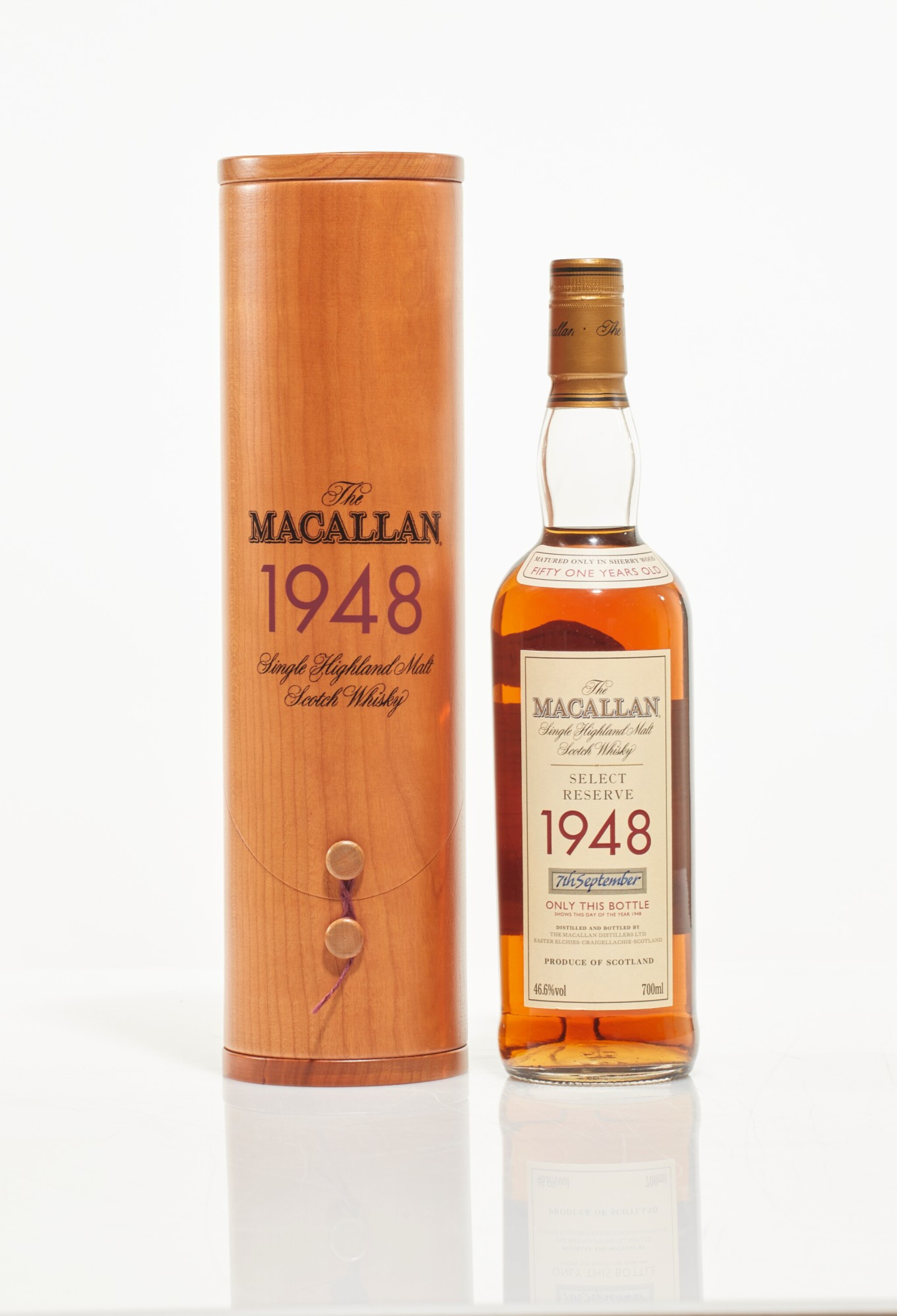View full screen - View 1 of Lot 2. The Macallan Select Reserve 51 Year Old 46.6 abv 1948 (1 BT70cl).