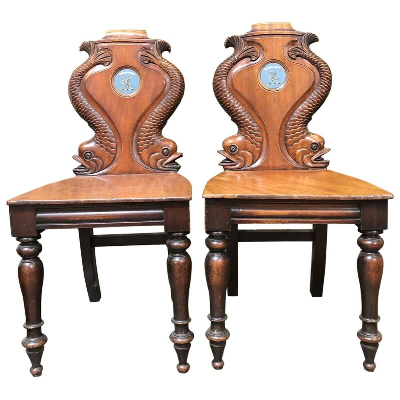 Victorian Carved Hall Chairs